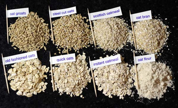 types of oat brans