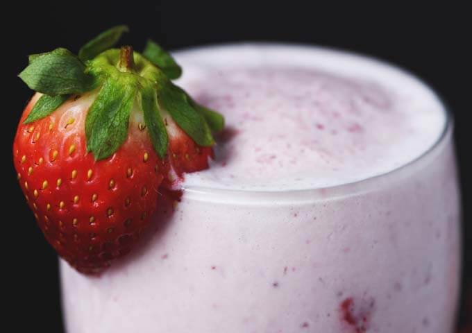 Lower Carb Strawberry Smoothie